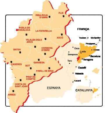 Mapa DOP Oli Terra Alta